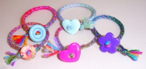 simple kumihimo bracelets  - these are the easiest things to make, and especially suitable for young children to make