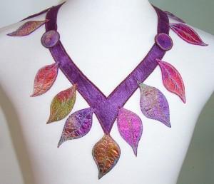 Silken Leaves Neckpiece