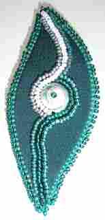Bead embelished brooch