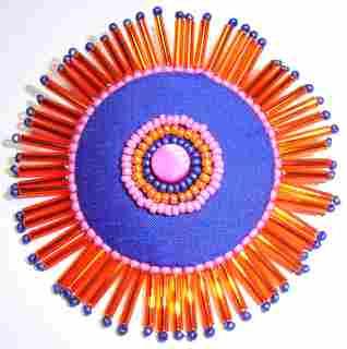 Bead embellished brooch