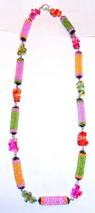 "Peyote ""Bonbon"" Bead Necklace 1"