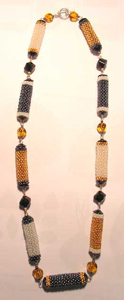 "Peyote ""Bonbon"" Bead Necklace 2"