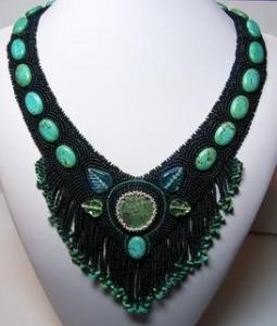"""Turquoise Treasure"" neckpiece"