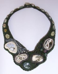 Nature's Treasures beaded neckpiece