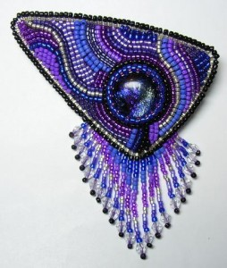 Beaded Treasure Brooch