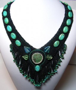 """Turquoise Treasure"" beaded neckpiece, 2008"